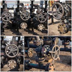 industrial valves collage