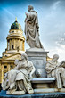 canvas print picture - statue in berlin