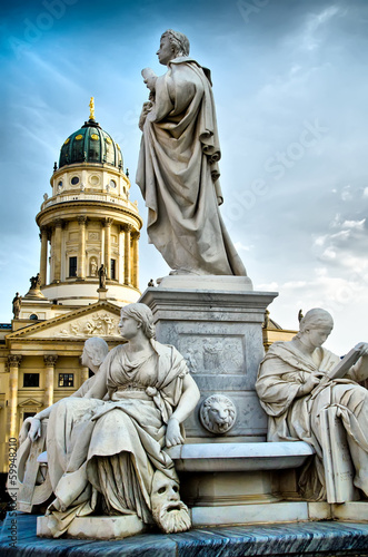 canvas print picture statue in berlin