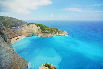 Shipwreck beach, Zakinthos Island, Greece