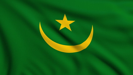 Flag of Mauritania looping