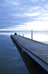 un dia de frio en el mar