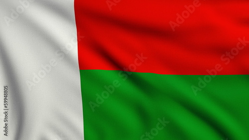Flag of Madagascar looping