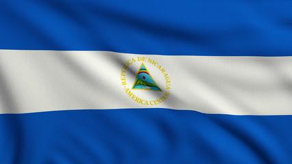 Flag of Nicaragua looping