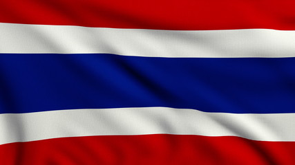 Flag of Thailand looping