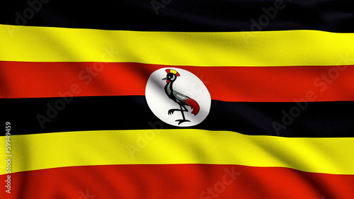 Flag of Uganda looping