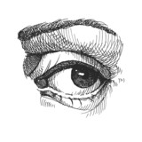 Eye. Realistic vector illustration. Hand drawn.