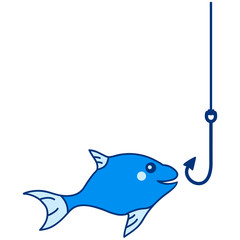 Cute Fish And Hook