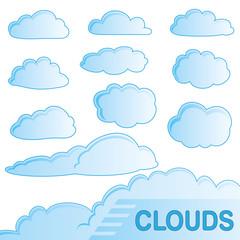 Clouds - Wolken - Set