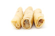 Spring rolls or popiah over white background