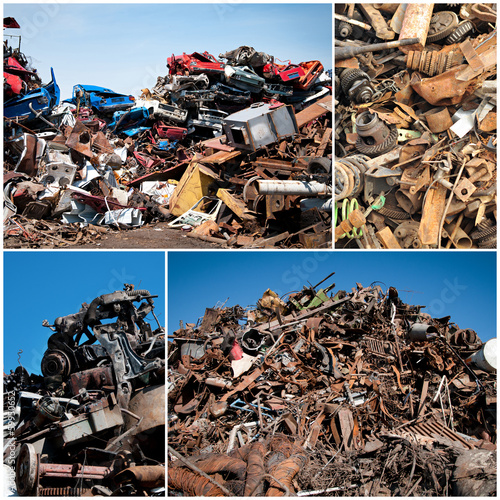 Scrap yard collage