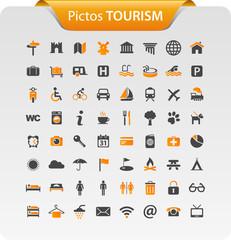 Icones cartes et tourisme