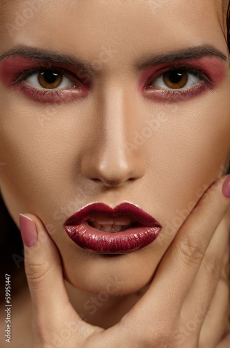 Fashion model portrait. Professional Makeup.