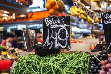 Fruits market, in La Boqueria,Barcelona famous marketplace