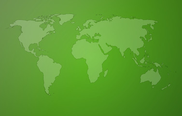 green worldmap
