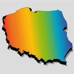 Rainbow Poland map