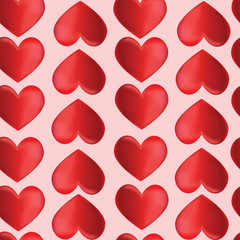 Seamless background with hearts by St. Valentine's Day