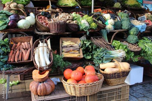 Canvas Groenten Marché aux légumes