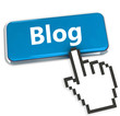 Blog button, internet concept