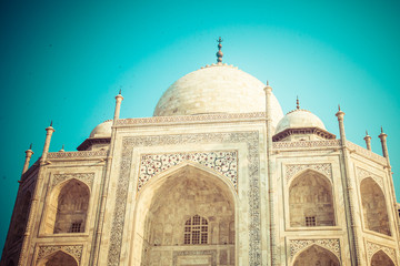 Taj mahal,famous monument,Greatest marble tomb in India,Agra
