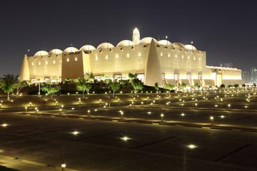 Abdul Wahhab Mosque at night. Doha, Qatar