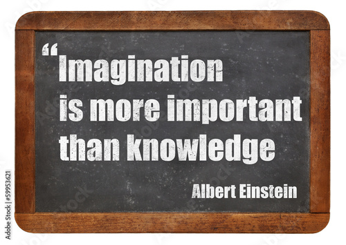 imagination and knowledge Canvas Print
