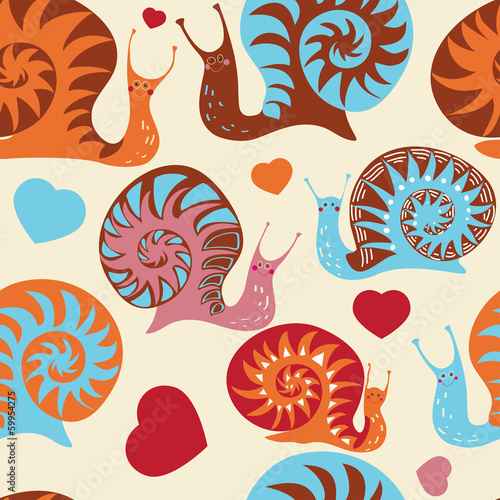 "Seamless pattern ""Snails"""