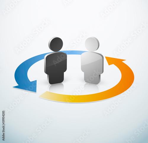 Travail collaboration équipe
