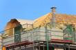 Dachgebälk mit Schornstein
