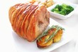 roast pork leg with vegetables