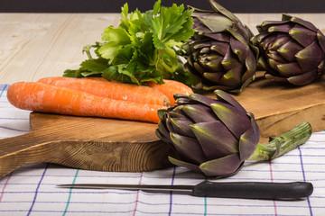 Carciofi e carote