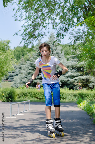 Young girl at the skate park