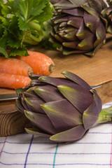 Carciofi e verdure