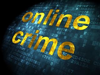 Safety concept: Online Crime on digital background