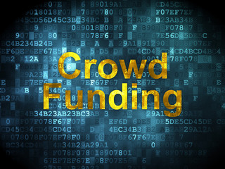 Finance concept: Crowd Funding on digital background