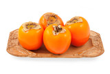 Persimmon on a plate