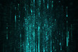 Abstract data stream matrix like background