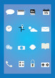 Vector illustration of application icons phone