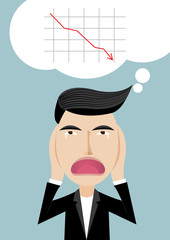 Vector illustration of Businessman, chaos, stressed,share