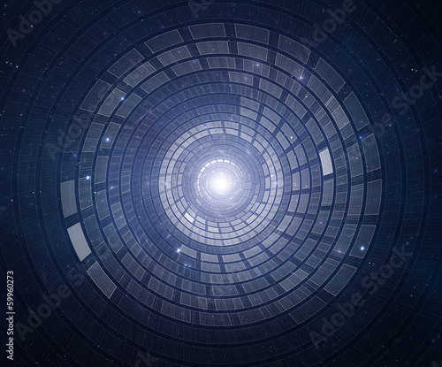 Abstract circular science fiction futuristic background