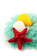 Sea salt granules.