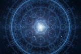 Abstract new age spiritual background