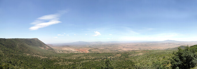 The great rift valley of Kenya,  Volcano Mt Longonot & Mt Suswa