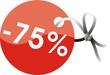 étiquette -75%