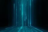 Fototapety Abstract data stream matrix like background