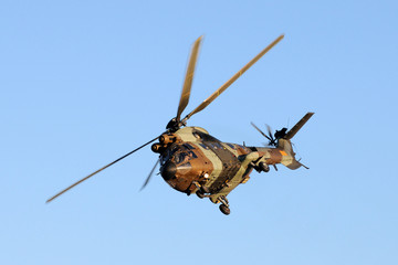 A antitank helicopter on sky
