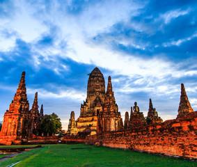 Wat Chaiwatthanaram in Ayuthaya province of Thailand