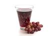 Roter Traubensaft und Weintrauben