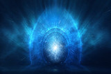 Time and space travel concept abstract background