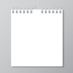 Blank wall calendar with spring